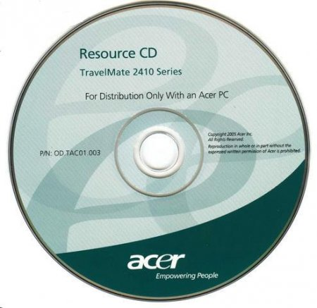 Acer TravelMate 2410 series Оригинальный CD